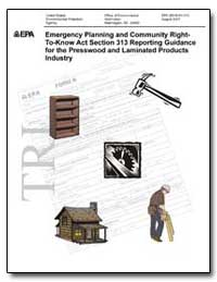 Emergency Planning and Community by Environmental Protection Agency