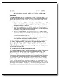 Principles for Superfund Cleanup in the ... by Environmental Protection Agency
