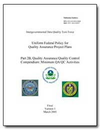 Uniform Federal Policy for Quality Assur... by Environmental Protection Agency