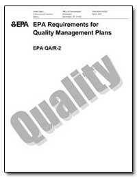 Epa Requirements for Quality Management ... by Environmental Protection Agency