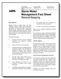 Storm Water Management Fact Sheet by Environmental Protection Agency