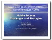 Mobile Sources Challenges and Strategies by Environmental Protection Agency