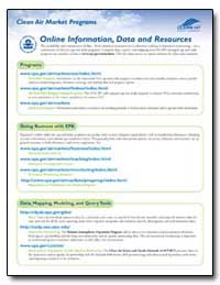 Online Information, Data and Resources by Environmental Protection Agency