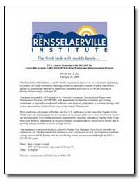Epa Awards Rensselaerville $867, 000 for... by Environmental Protection Agency