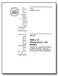 Office of Management and Budget by Environmental Protection Agency