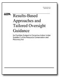 Results-Based Approaches and Tailored Ov... by Environmental Protection Agency