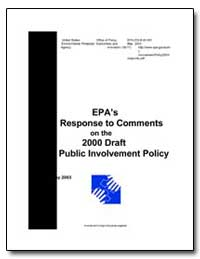 Epa's Response to Comments on the 2000 D... by Environmental Protection Agency