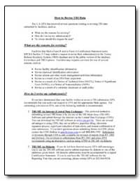How to Revise Tri Data by Environmental Protection Agency