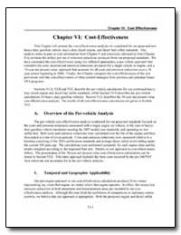 Chapter VI : Cost-Effectiveness by Environmental Protection Agency