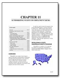 Chapter 11 : Authorizing States to Imple... by Environmental Protection Agency
