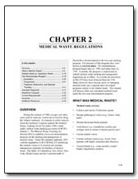 Chapter 2 : Medical Waste Regulations by Environmental Protection Agency