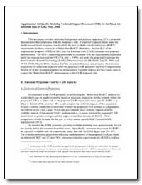Supplemental Air Quality Modeling Techni... by Environmental Protection Agency