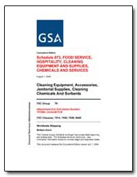 Schedule 073, Food Service, Hospitality,... by Environmental Protection Agency