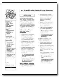 Lista de Verificacion de Servicio de Ali... by Environmental Protection Agency