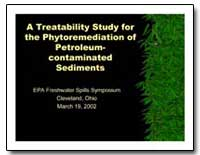 A Treatability Study for the Phytoremedi... by Environmental Protection Agency