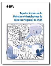 Aspectos Sociales de la Ubicacion de Ins... by Environmental Protection Agency