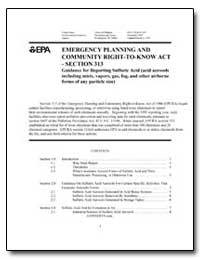 Emergency Planning and Community Right-T... by Environmental Protection Agency