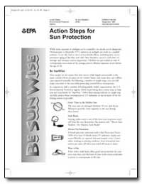 Action Steps for Sun Protection by Environmental Protection Agency