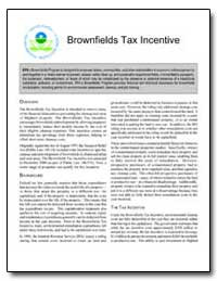 Brownfields Tax Incentive by Environmental Protection Agency