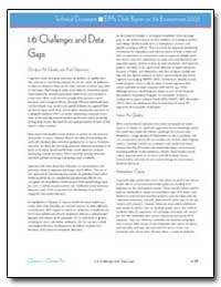 1. 6 Challenges and Data Gaps by Environmental Protection Agency