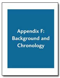 Appendix F : Background and Chronology by Environmental Protection Agency