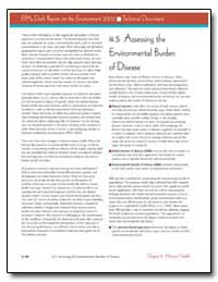 4. 5 Assessing the Environmental Burden ... by Environmental Protection Agency