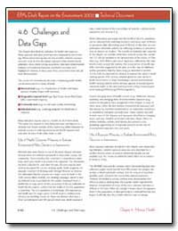4. 6 Challenges and Data Gaps by Environmental Protection Agency