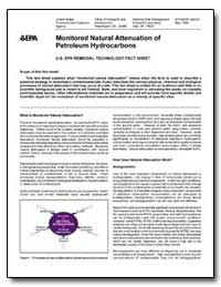 Monitored Natural Attenuation of Petrole... by Environmental Protection Agency