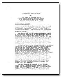 Tephguard Oil Additive Report by Braddock, James N.