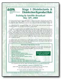 Stage 1 Disinfectants and Disinfection B... by Environmental Protection Agency