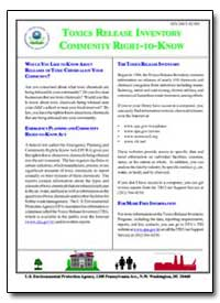 Toxics Release Inventory Community Right... by Environmental Protection Agency