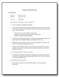 Summary of Tulsa Ms4 Permit by Environmental Protection Agency