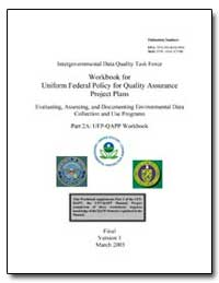 Workbook for Uniform Federal Policy for ... by Environmental Protection Agency