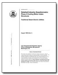 Detailed Industry Questionnaire : Phase ... by Environmental Protection Agency