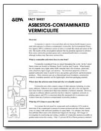 Asbestos-Contaminated Vermiculite by Environmental Protection Agency