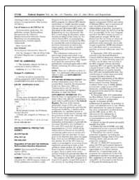 List of Subjects in 40 Cfr Part 52 by Diamond, Jane