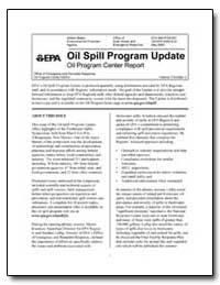 Oil Spill Program Update Oil Program Cen... by Environmental Protection Agency