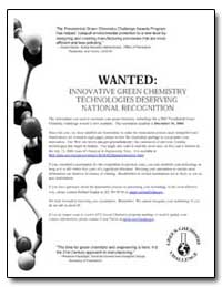 Wanted : Innovative Green Chemistry Tech... by Environmental Protection Agency