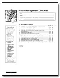 Waste Management Checklist by Environmental Protection Agency