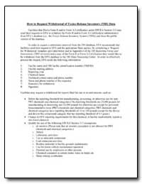 How to Request Withdrawal of Toxics Rele... by Environmental Protection Agency