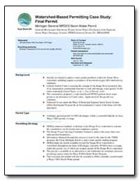 Watershed-Based Permitting Case Study : ... by Environmental Protection Agency