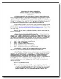 Application for Federal Assistance Grant... by Environmental Protection Agency
