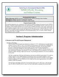 Npdes Profile : Wyoming and Indian Count... by Environmental Protection Agency