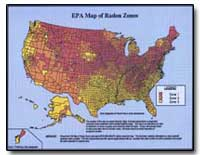 Epa Map of Radon Zones by Environmental Protection Agency