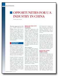 Opportunities for U.S. Industry in China by Huot, Lisa