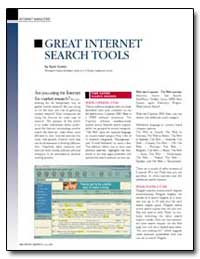 Great Internet Search Tools by Kanne, Ryan