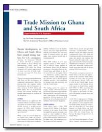 Trade Mission to Ghana and South Africa by Edwards, Dan