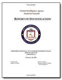 Report of Investigation by Deutch, John M.