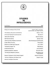 Studies in Intelligence by Barry, James A.