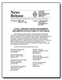 Local Libraries Offer Government Documen... by Bright, C. Michael